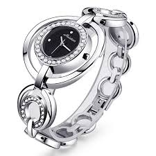 silver bracelet watches images Womens fashion silver wrist watch ladies stainless jpg