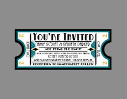 Movie Ticket Wedding Invitations Wedding Invitation Vintage Antique Art Deco Art Nouveau