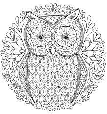 Free Adult Coloring Pages Detailed Printable Coloring Pages For Coloring Pages Owl