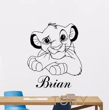 online get cheap wall names aliexpress com alibaba group custom name lion king simba wall decal personalized vinyl sticker decor nursery cartoonart mural china