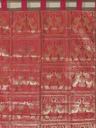 Living Room Curtains Traditional Elephant Curtain Red Brocade Traditional Indian Living Room