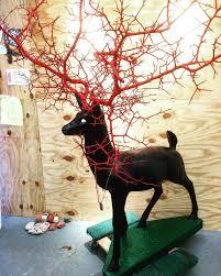repurposed reindeer lawn ornament antlers in sauce by