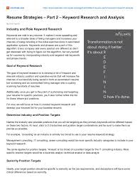 resume strategy powerful resume strategies to land the interview part 2 keyword r u2026
