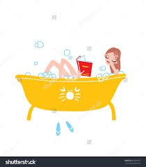 woman taking bath with foam bathroom clipart explore pictures