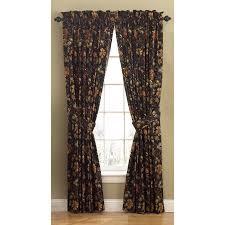 shop waverly felicite 84 in noir cotton back tab single curtain
