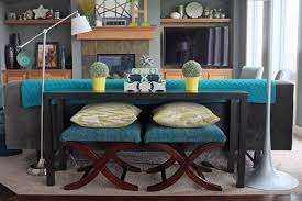 sofa table behind couch how to style a sofa table