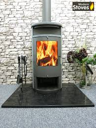 wood burning stove contemporary curved modern 13kw apollo amazon