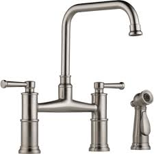 Bridge Kitchen Faucet Brizo 62525lf Ss Artesso Brilliance Stainless Two Handle Bridge