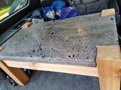 Cedar Table Top by How To Build A Cedar Slab Concrete Table Diy Project Is Perfect