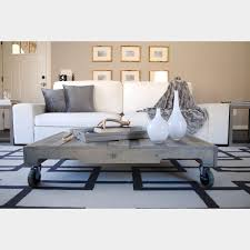 reclaimed coffee table on casters raka mod touch of modern