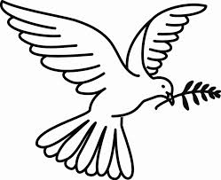 peace dove image coloring home