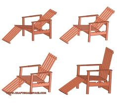 Free Plans For Garden Chair by Adjustable Wooden Chair Plan