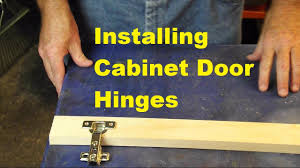 How To Install Upper Kitchen Cabinets Installing Cabinet Hinges Video Response To Kaligirl1980 Youtube