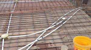 electric wiring of slab roof youtube