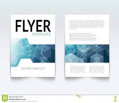 flyer graphic design layout brochure flyer graphic design layout template stock illustration