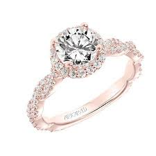 twisted band engagement ring halo engagement rings a j inc
