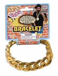Flavor Flav Halloween Costume Jumbo Rapper Gold Chain Bracelet 6548 Rapper Chains Costumes
