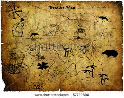 treasure map antique treasure map stock photo 57722800