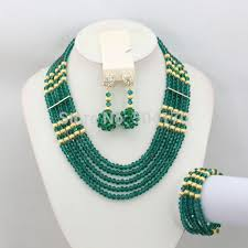 green crystal necklace set images Smart bride jewelry set brand set indian beads crystal jewelry set jpg