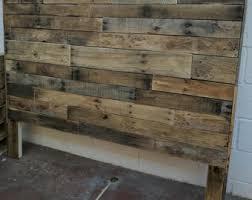Pallet Wood Headboard Pallet Headboard Etsy