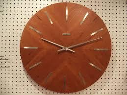 mid century modern wall clock large unique mid century modern