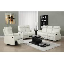 ivory leather reclining sofa daly bonded leather sofa in ivory reclining modern sofa canada