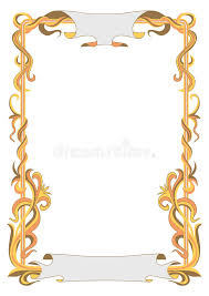 frame for diploma frame for diploma with abstract plant lines stock vector