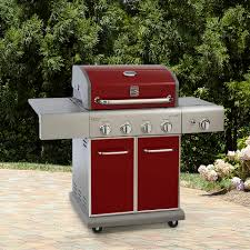 Brinkmann Dual Function Grill by Kenmore 4 Burner Lp Red Gas Grill W Searing Side Burner Shop