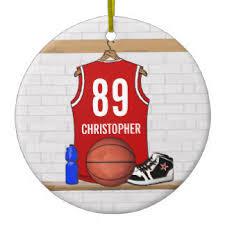 basketball jersey ornaments keepsake ornaments zazzle