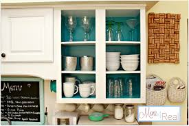 Open Kitchen Cabinet Designs Open Cabinets With White Aqua Lime Green U0026 Silver Accents Mom