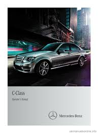 mercedes benz c class sedan 2012 w204 owner u0027s manual