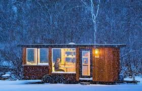 Contemporary Cabin Small Home On Wheels Allowing Quick Relocation Of Modern Nomads