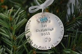 baby 1st ornament invitation template