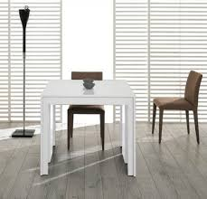 modrest morph modern ultra compact extendable white dining table