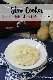 easy cooker garlic mashed potatoes