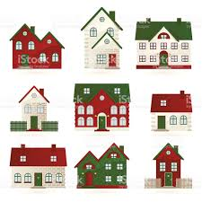 houses in different architectural styles stock vector art