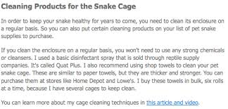 pet snake supplies a checklist for snake keepers