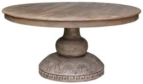 Antique Round Dining Table Adelaide - Round pedestal dining table in antique white