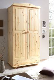 Schlafzimmer Schrank Amazon Ticaa Kleiderschrank 2 Türig Adam Kiefer Massiv Amazon De Küche