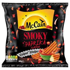 smoky paprika mccain smoky paprika ridge cut wedges 600g from ocado