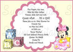 Minnie Mouse Baby Shower Invitations Templates - minnie mouse zebra print baby shower invitations baby shower