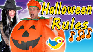 halloween rules kids halloween song youtube