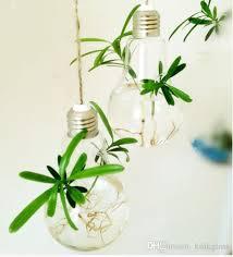 Flower Light Bulbs - light bulb hanging planter vase bulbs globe terrarium for garden