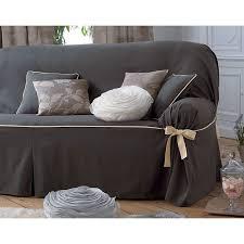 housse pour canapé housse de canapé bicolores à nouettes becquet gris becquet