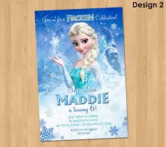 elsa frozen invitation frozen birthday invitation disney