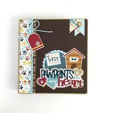 dog scrapbook album artsy albums dog diy or premade mini album kit pre cut with