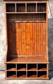mudroom organizer wooden hall tree bench tree hall bench reclaimed rustic wood mudroom