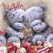 to the both of you christmas card me to you tatty teddy bear