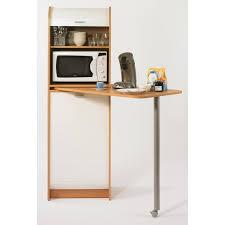 meuble rangement cuisine snack meuble de rangement et table de cuisine 131 1 cm hêtre et