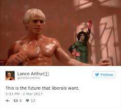 Liberal Meme - after someone posted this far right tweet showing the future that